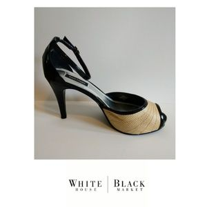 White House Black Market peep toe heels size 7.5